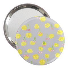 Cute Fruit Cerry Yellow Green Pink 3  Handbag Mirrors