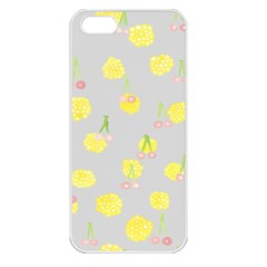 Cute Fruit Cerry Yellow Green Pink Apple Iphone 5 Seamless Case (white) by Mariart
