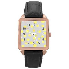 Cute Fruit Cerry Yellow Green Pink Rose Gold Leather Watch  by Mariart