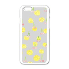 Cute Fruit Cerry Yellow Green Pink Apple Iphone 6/6s White Enamel Case by Mariart