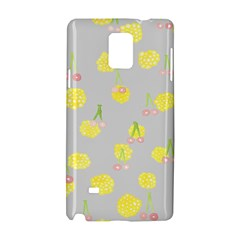 Cute Fruit Cerry Yellow Green Pink Samsung Galaxy Note 4 Hardshell Case by Mariart