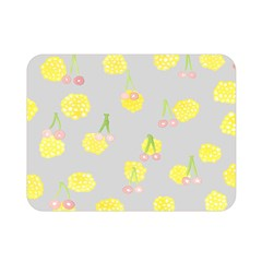 Cute Fruit Cerry Yellow Green Pink Double Sided Flano Blanket (mini)  by Mariart