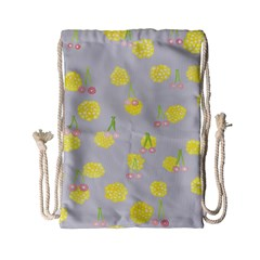 Cute Fruit Cerry Yellow Green Pink Drawstring Bag (small) by Mariart