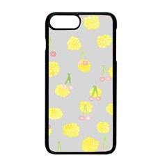 Cute Fruit Cerry Yellow Green Pink Apple Iphone 7 Plus Seamless Case (black)