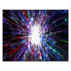 Seamless Animation Of Abstract Colorful Laser Light And Fireworks Rainbow Rectangular Jigsaw Puzzl by Mariart