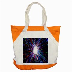 Seamless Animation Of Abstract Colorful Laser Light And Fireworks Rainbow Accent Tote Bag by Mariart