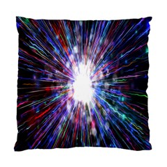 Seamless Animation Of Abstract Colorful Laser Light And Fireworks Rainbow Standard Cushion Case (one Side)