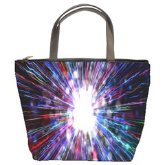 Seamless Animation Of Abstract Colorful Laser Light And Fireworks Rainbow Bucket Bags by Mariart
