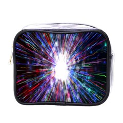 Seamless Animation Of Abstract Colorful Laser Light And Fireworks Rainbow Mini Toiletries Bags by Mariart