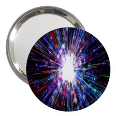 Seamless Animation Of Abstract Colorful Laser Light And Fireworks Rainbow 3  Handbag Mirrors