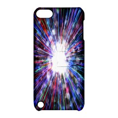 Seamless Animation Of Abstract Colorful Laser Light And Fireworks Rainbow Apple Ipod Touch 5 Hardshell Case With Stand by Mariart