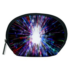Seamless Animation Of Abstract Colorful Laser Light And Fireworks Rainbow Accessory Pouches (medium)