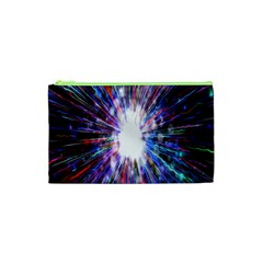 Seamless Animation Of Abstract Colorful Laser Light And Fireworks Rainbow Cosmetic Bag (xs) by Mariart