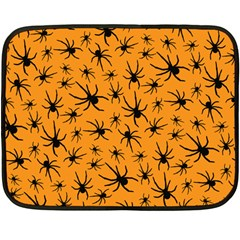 Pattern Halloween Black Spider Icreate Fleece Blanket (mini) by iCreate