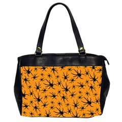 Pattern Halloween Black Spider Icreate Office Handbags (2 Sides)  by iCreate