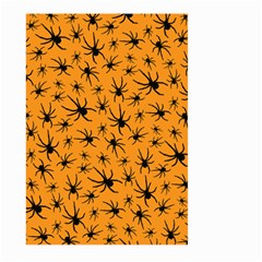 Pattern Halloween Black Spider Icreate Large Garden Flag (two Sides) by iCreate