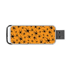 Pattern Halloween Black Spider Icreate Portable Usb Flash (one Side) by iCreate