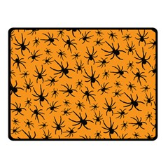 Pattern Halloween Black Spider Icreate Double Sided Fleece Blanket (small)  by iCreate