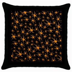 Halloween Spiders Throw Pillow Case (black) by iCreate