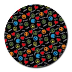 Pattern Halloween Peacelovevampires  Icreate Round Mousepads by iCreate