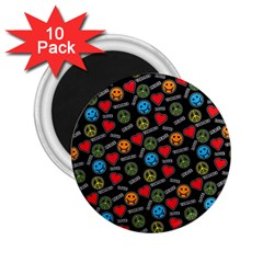 Pattern Halloween Peacelovevampires  Icreate 2 25  Magnets (10 Pack)  by iCreate