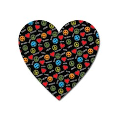 Pattern Halloween Peacelovevampires  Icreate Heart Magnet by iCreate