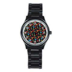 Pattern Halloween Peacelovevampires  Icreate Stainless Steel Round Watch by iCreate