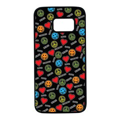 Pattern Halloween Peacelovevampires  Icreate Samsung Galaxy S7 Black Seamless Case by iCreate