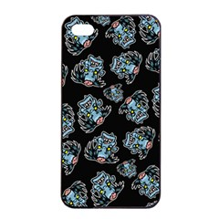 Pattern Halloween Zombies Brains Apple Iphone 4/4s Seamless Case (black) by iCreate
