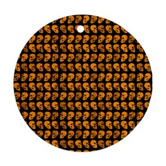 Halloween Color Skull Heads Ornament (round) by iCreate