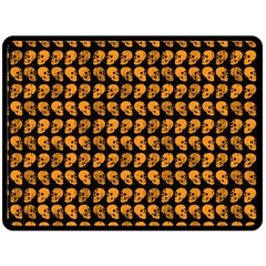 Halloween Color Skull Heads Fleece Blanket (large)  by iCreate