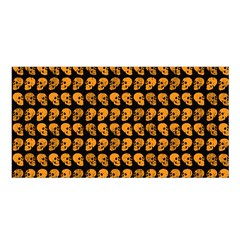 Halloween Color Skull Heads Satin Shawl by iCreate