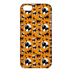 Pattern Halloween Black Cat Hissing Apple Iphone 5c Hardshell Case by iCreate