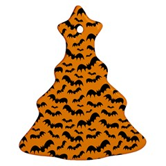 Pattern Halloween Bats  Icreate Ornament (christmas Tree)  by iCreate