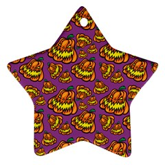 1pattern Halloween Colorfuljack Icreate Star Ornament (two Sides) by iCreate