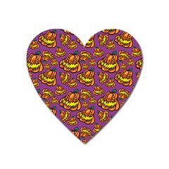 Halloween Colorful Jackolanterns  Heart Magnet by iCreate