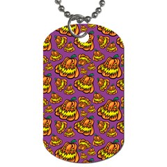 Halloween Colorful Jackolanterns  Dog Tag (one Side) by iCreate