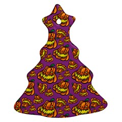 Halloween Colorful Jackolanterns  Christmas Tree Ornament (two Sides) by iCreate