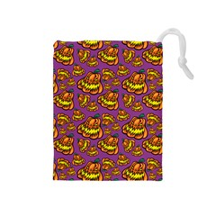 Halloween Colorful Jackolanterns  Drawstring Pouches (medium)  by iCreate
