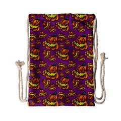 Halloween Colorful Jackolanterns  Drawstring Bag (small) by iCreate