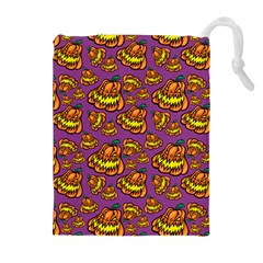 Halloween Colorful Jackolanterns  Drawstring Pouches (extra Large) by iCreate