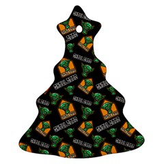 Halloween Ghoul Zone Icreate Christmas Tree Ornament (two Sides) by iCreate
