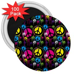 Peace Drips Icreate 3  Magnets (100 Pack)