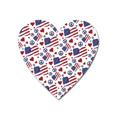 Peace Love America Icreate Heart Magnet by iCreate