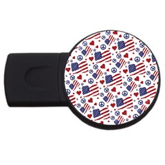 Peace Love America Icreate Usb Flash Drive Round (2 Gb) by iCreate