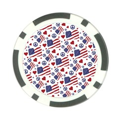 Peace Love America Icreate Poker Chip Card Guard by iCreate