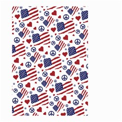 Peace Love America Icreate Small Garden Flag (two Sides) by iCreate