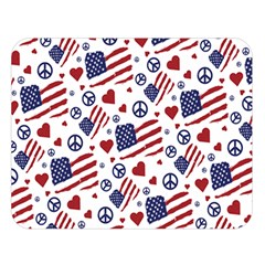 Peace Love America Icreate Double Sided Flano Blanket (large)  by iCreate