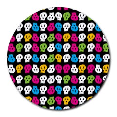 Pattern Painted Skulls Icreate Round Mousepads by iCreate