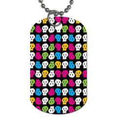 Pattern Painted Skulls Icreate Dog Tag (two Sides) by iCreate
